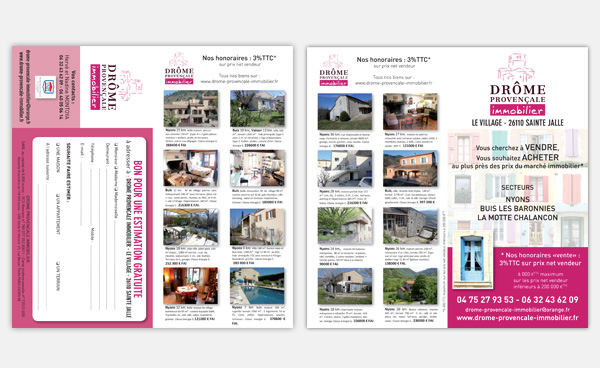 Communication des agences immobili res studio graphique for Location appartement sans agence immobiliere